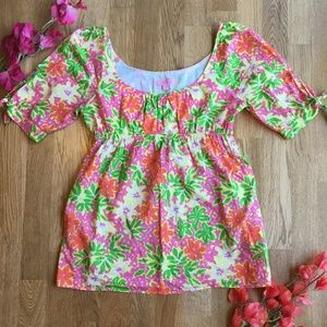 Lilly Pulitzer Floral Tie Sleeve Top